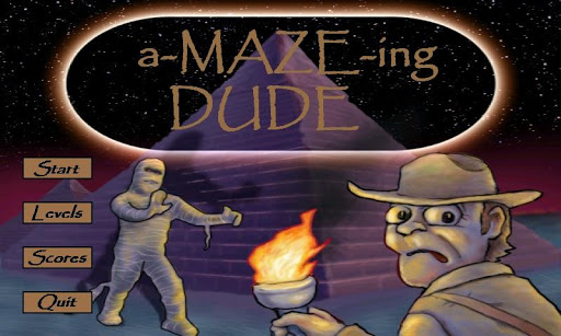 a-MAZE-ing Dude Top Maze Game
