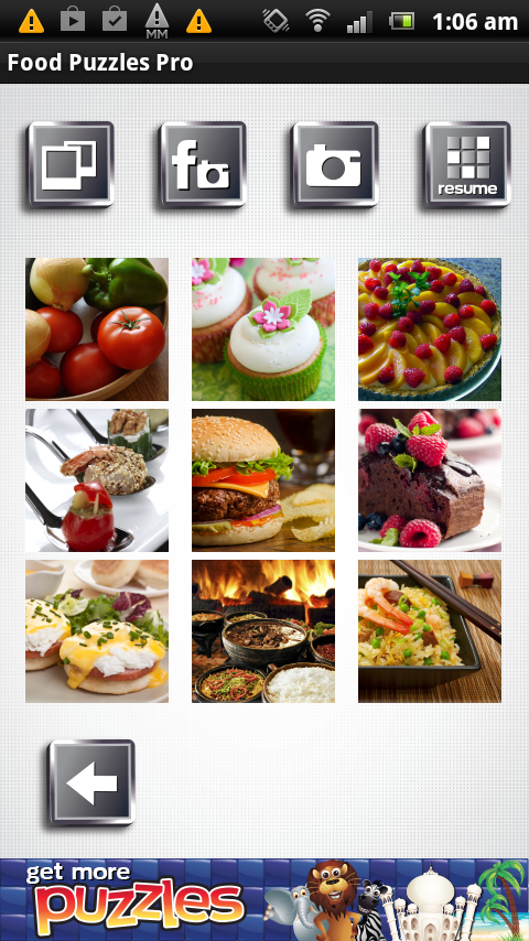 Food Puzzles - Free and Yummy- screenshot