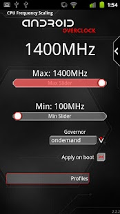 Overclock for Android Screenshot