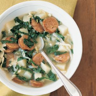 Potato Soup with Kale and Sausage