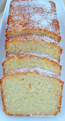Moist Coconut Pound / Loaf Cake