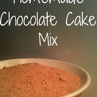 Homemade Chocolate Cake Mix.
