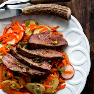 Vietnamese Grilled Duck Salad With Cucumber, Radishes and Peanuts