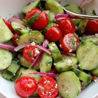 Summer Tomato Cucumber Salad.