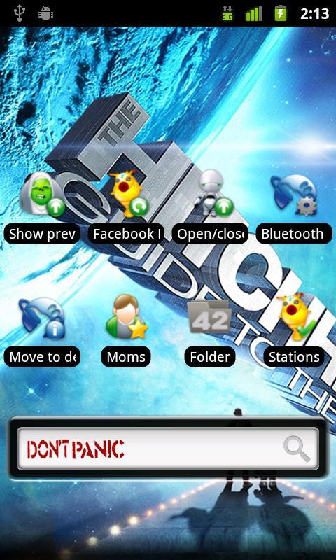 ADW.theme Don't Panic (FREE)- screenshot