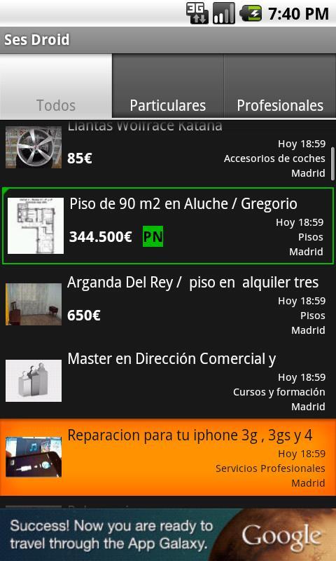 Ses Droid - screenshot