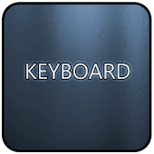 Blue Glass Keyboard Skin