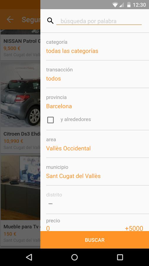 segundamano.es comprar/vender - screenshot