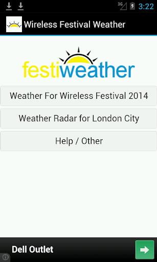 Wireless Festival Forecast