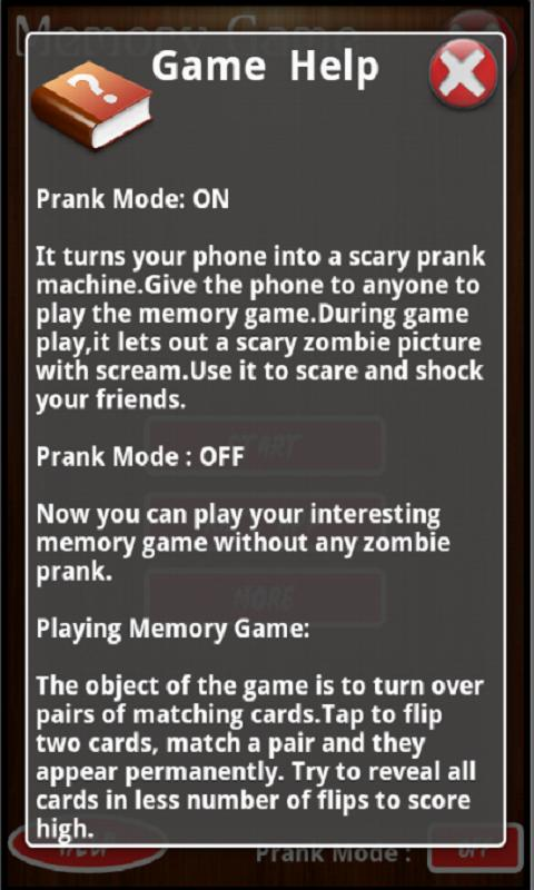 Zombie Memory Game - screenshot