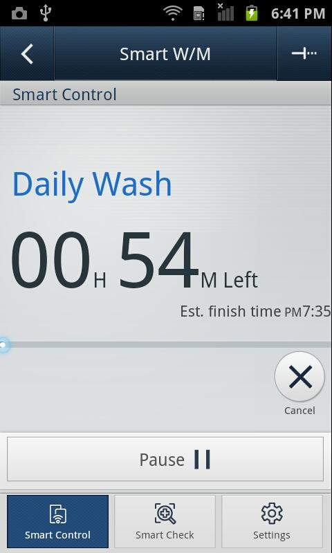 SAMSUNG Smart Washer/Dryer - screenshot