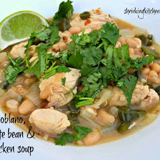 Poblano, White Bean & Chicken Soup.