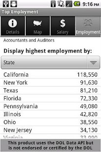 Labor Wage Statistics- screenshot thumbnail