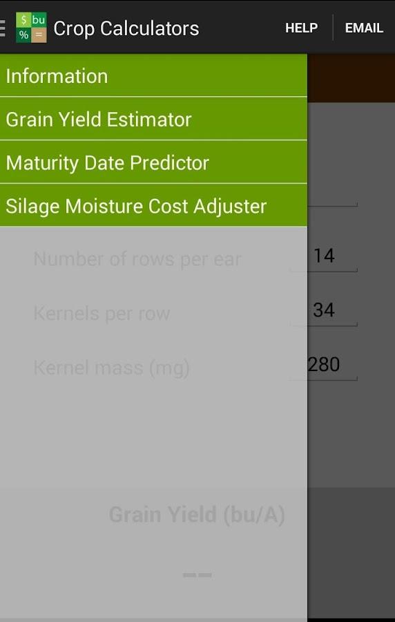 Crop Calculators - screenshot