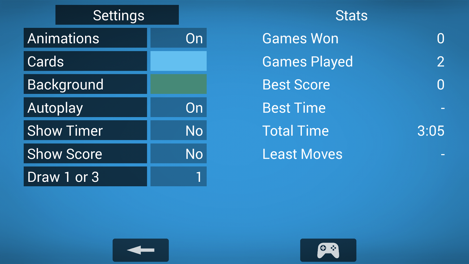 Patience- screenshot
