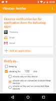 Screenshot of Vibration Notifier