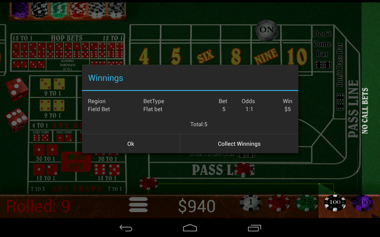 Craps Trainer Pro - screenshot