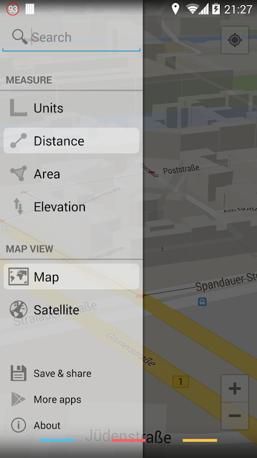 Maps Measure- screenshot
