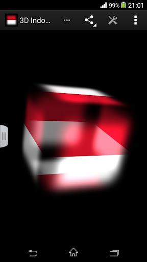 3D Indonesia Cube Flag LWP