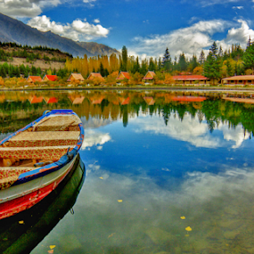 A Lake of Colours by Asmar Hussain - Landscapes Mountains & Hills