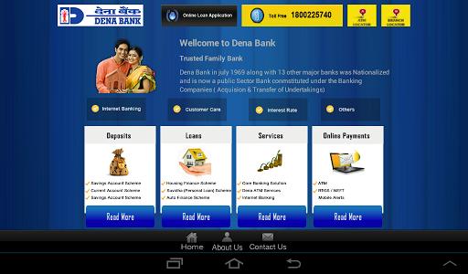 Dena Bank Tablet application