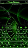 Screenshot of Toxic Green GO Keyboard Theme