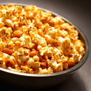 Chili Parmesan Popcorn And Peanuts.