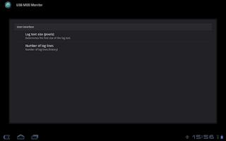 Screenshot of USB MIDI Monitor