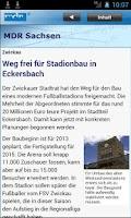Screenshot of MDR Sachsen