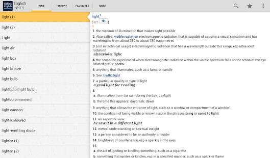 Collins English Dictionary TR - screenshot thumbnail