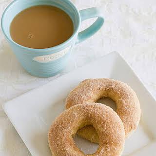 Baked Doughnuts with Cinnamon-Sugar.