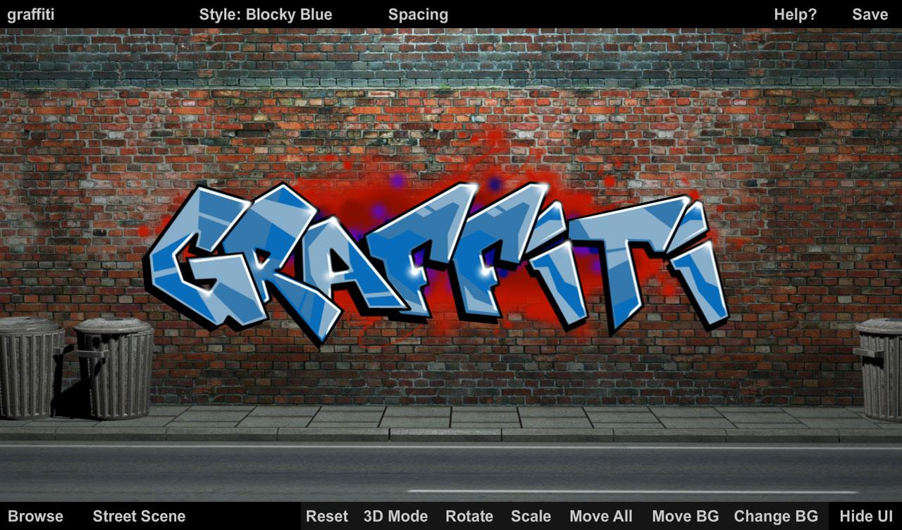 Graffiti wall creator - That Graffiti App Screenshot