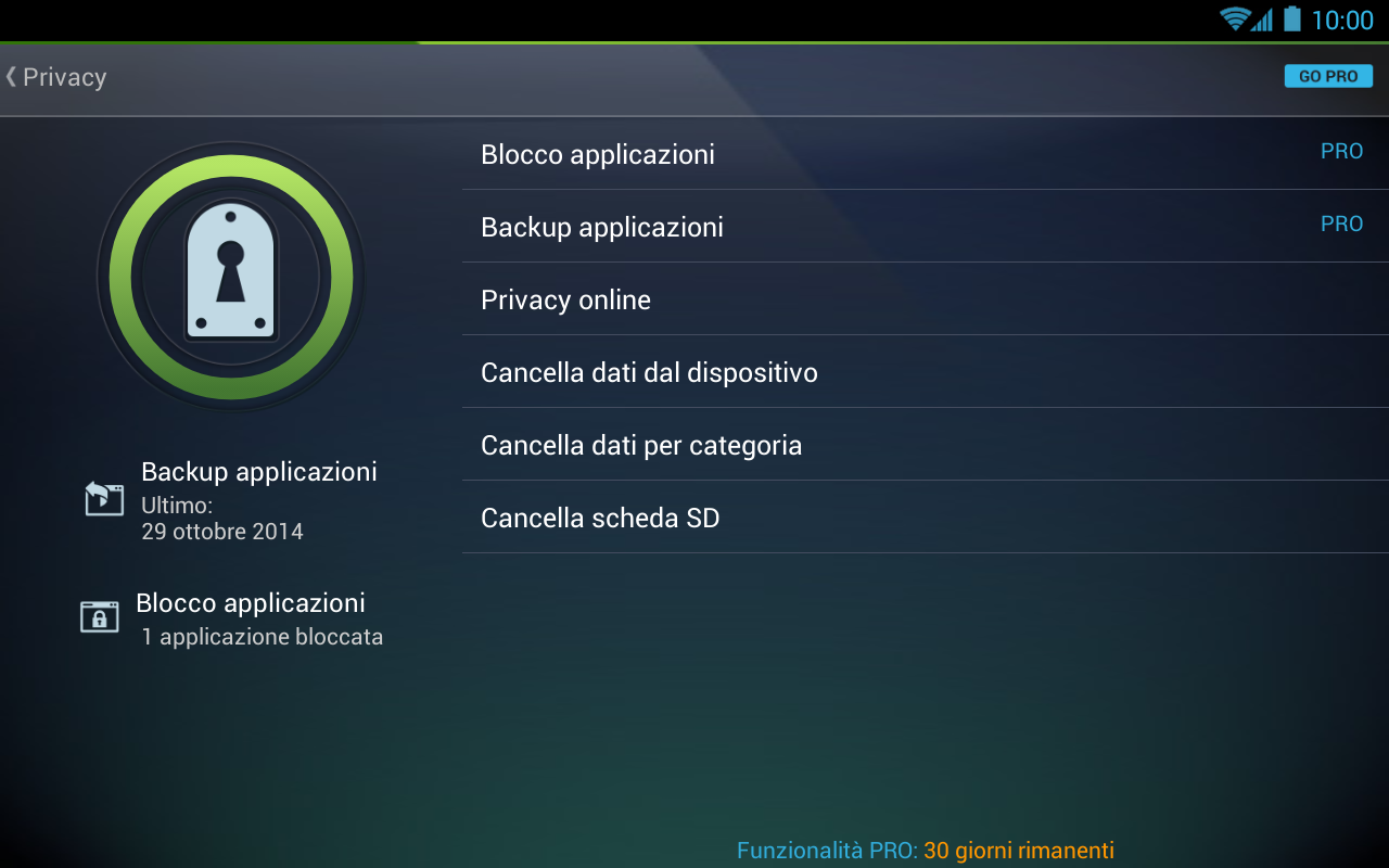 Antivirus free per tablet app android su google play for App tablet android gratis
