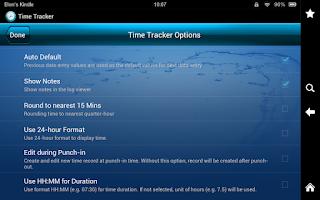 Screenshot of Time Tracker