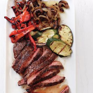 Grilled Steak and Vegetables.