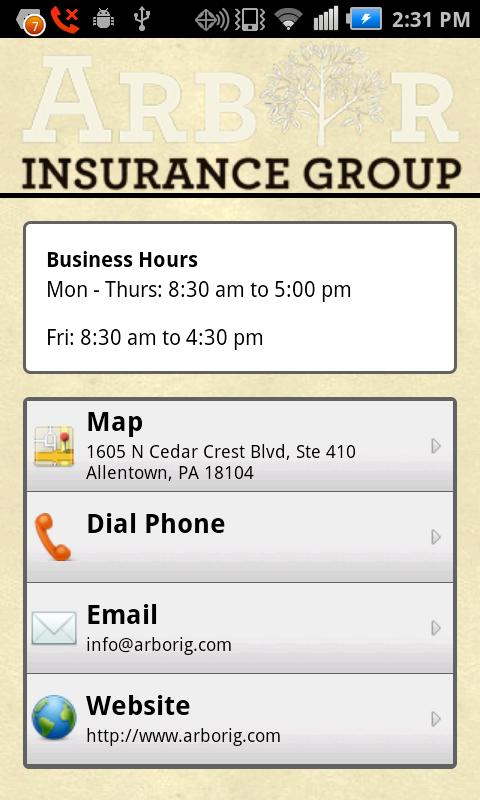 Arbor Insurance Group- screenshot