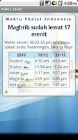 Screenshot of Waktu Shalat