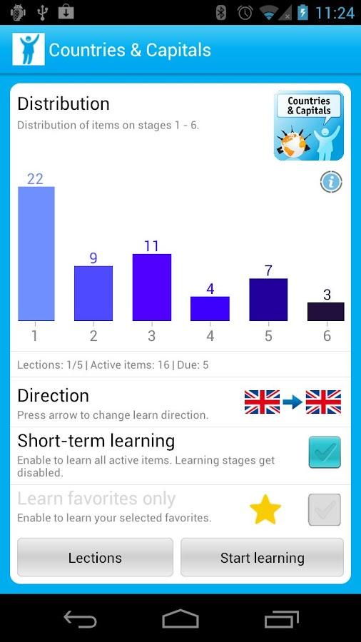 Vocabulary Trainer- screenshot
