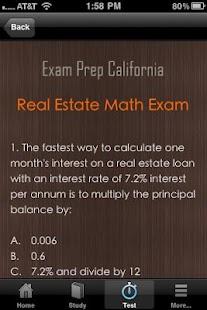 California Real Estate Exam CA- screenshot thumbnail
