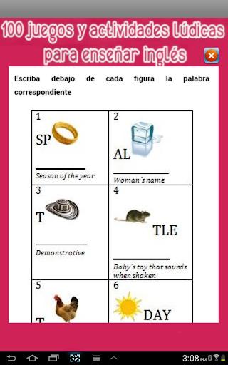 Juegos para enseñar inglés