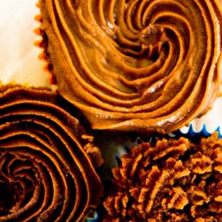 Pecan Butter Frosting with Chocolate and Bourbon.