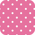PINK POLKA DOTS ♥ GO LAUNCHER logo