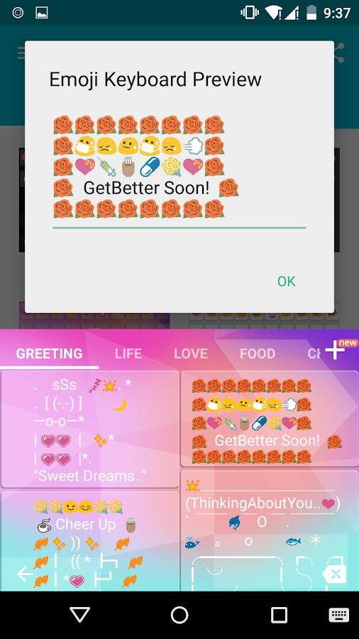 how to add emoticons to android phone