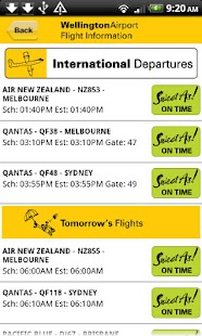 Wellington Airport Flight Info- screenshot thumbnail