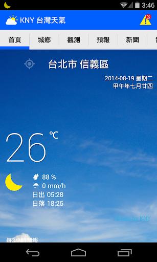 台湾の天気情報