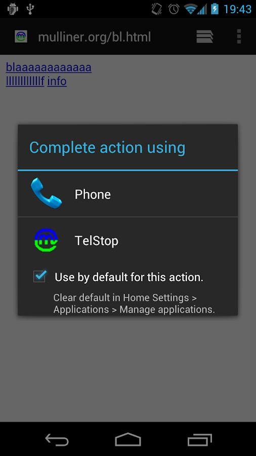 TelStop - screenshot