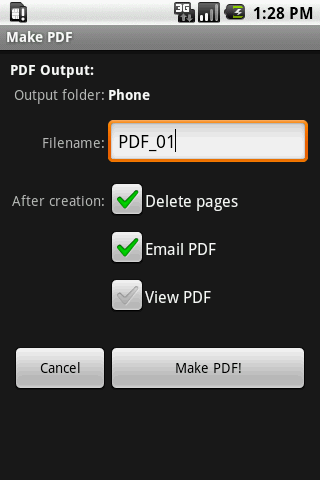Scan2PDF Mobile- screenshot