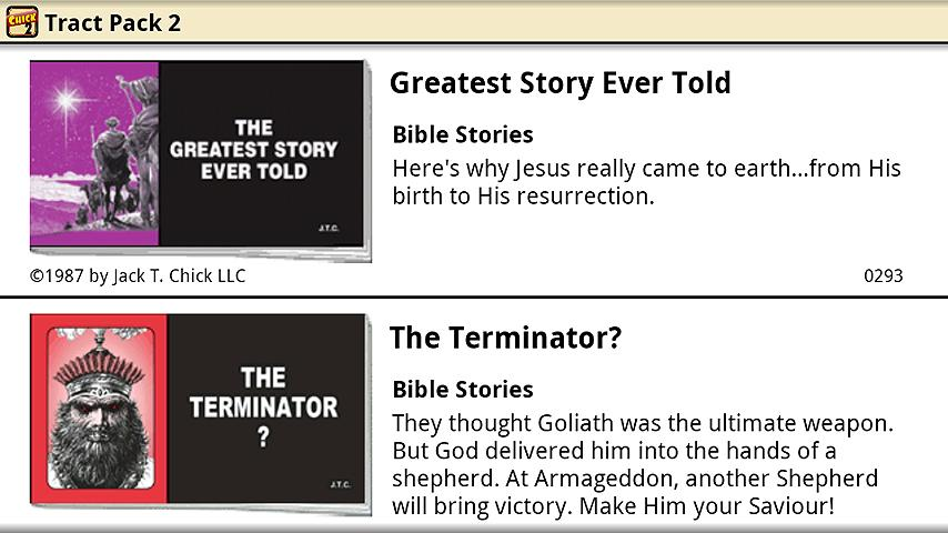 Chick Tracts 2 - English - screenshot
