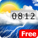Weather Clock Widget Xmas FREE icon