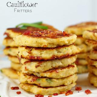 Bacon Cheddar Cauliflower Fritters.